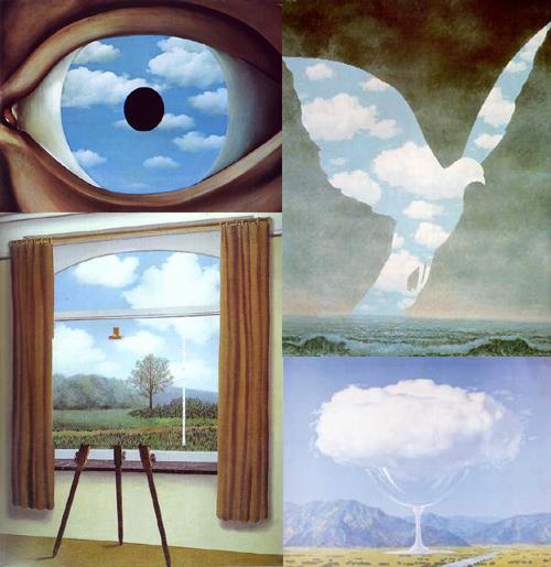 Di nuvole e giardini pochissimi i giardini - Falso specchio magritte ...